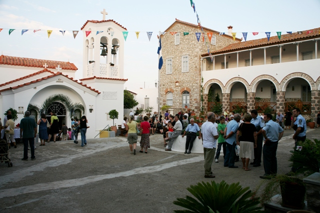 June 30 - Anargyroi festival - The inner courtyard