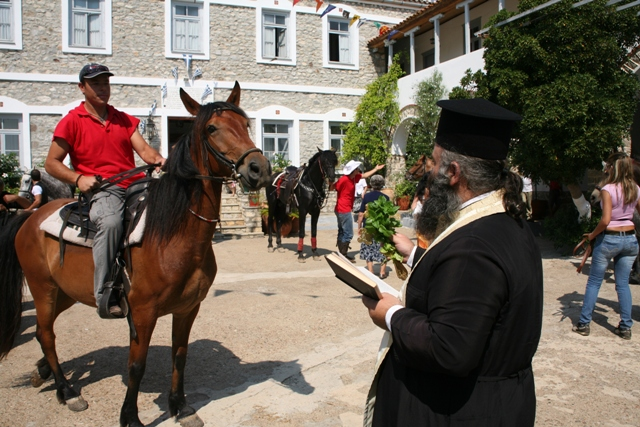 July 1 - Anargyroi festival - 'Blessing of the horses'