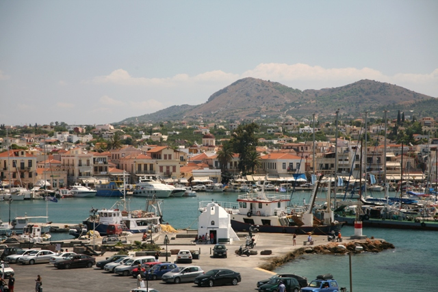 Aegina Island - Approach to the port of Aegina