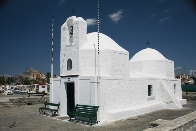 Aegina Island - Port church of Aghios Nikolaos