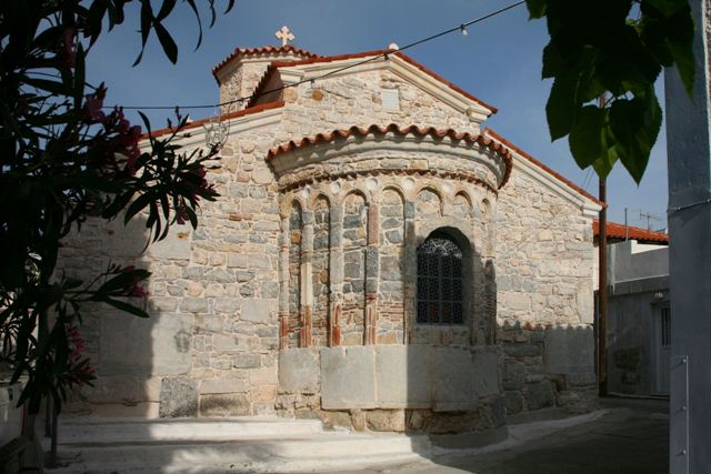 Recently restored exterior of Taxiarches church