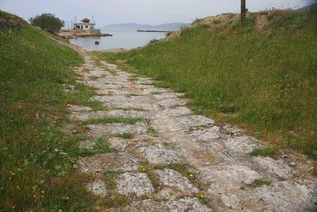 Ancient Diolkos - At the Corinthian Gulf end of the Corinth Canal