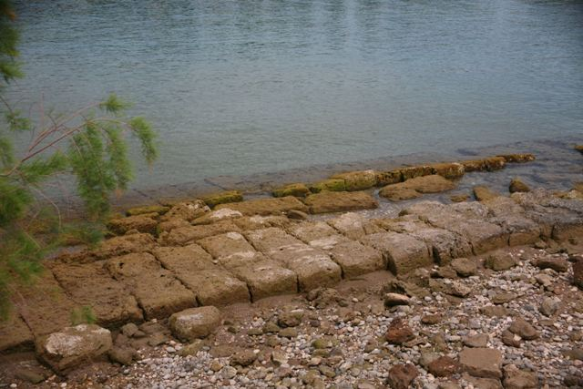 Ancient Diolkos - Part of the sunken paved boat-track