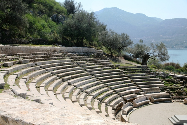 Archaic Epidavros - Original 2,000 seat theatre overlooking the sea