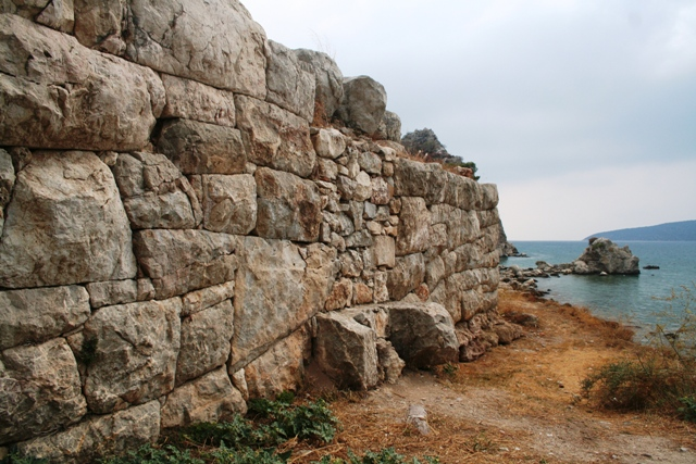 Mycenaean walls are still visible near the entrance to Asine