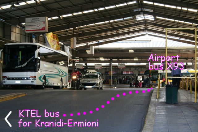 Getting there - By bus: X93 Airport Express at Kifissos InterCity bus station