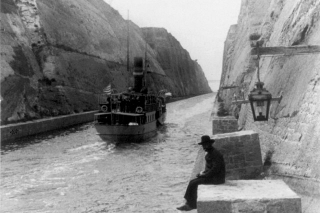 Corinth Canal - Early sailings - Early 20th Century