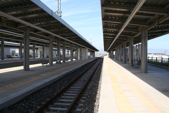 Getting there - By train: Arrival at Corinth railway station