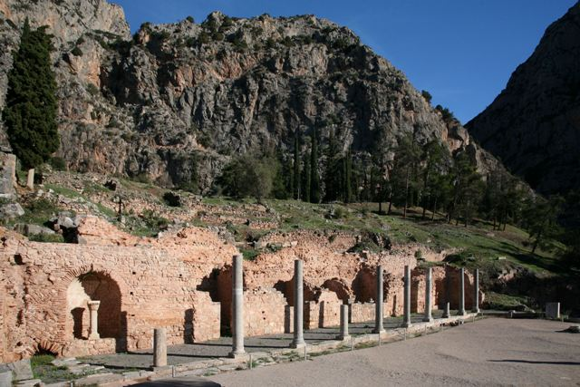 Delphi archaeological site - Agora built in 4th Century AD
