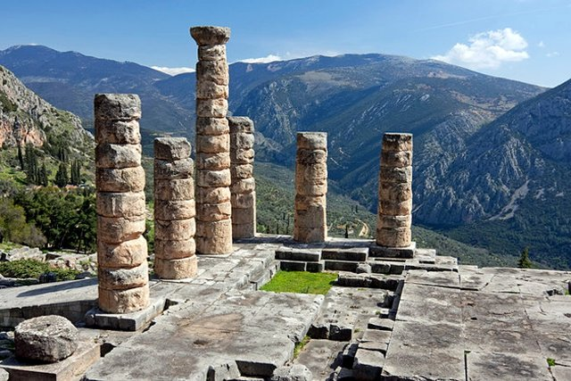 Delphi archaeological site - 4th Century BC temple of Apollo