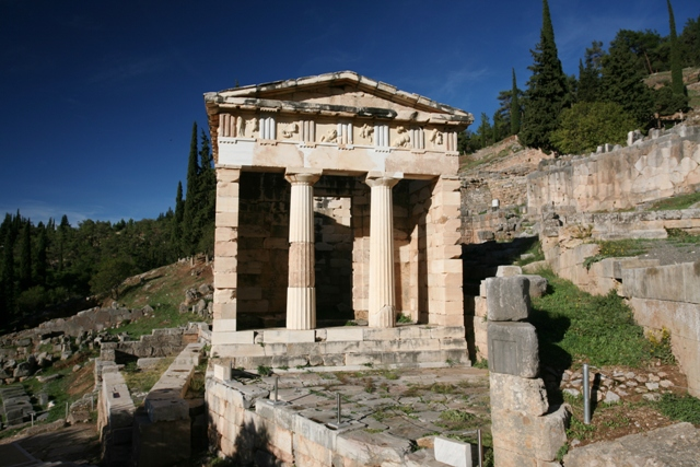 Delphi archaeological site - Treasury of the Athenians