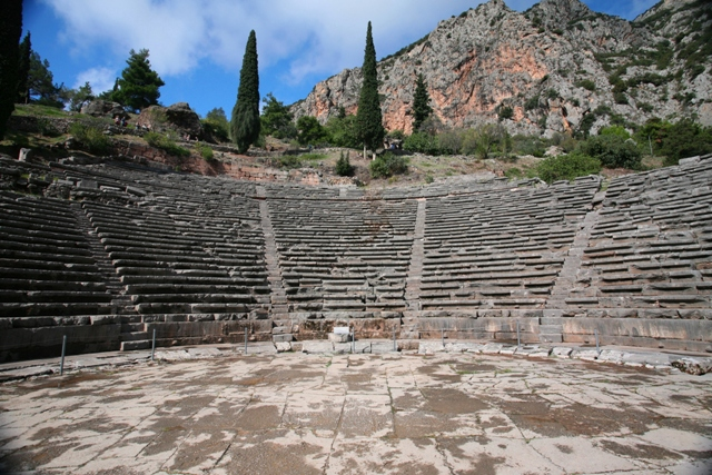 Delphi archaeological site - Theatre could hold 4,500 spectators