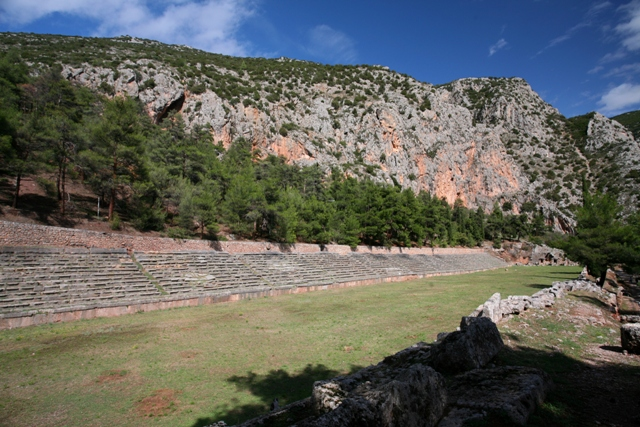 Delphi archaeological site - Panhellenic stadium