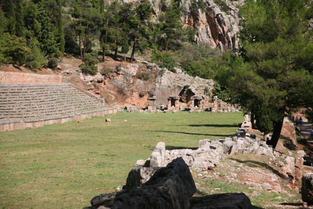 Delphi archaeological site - Stadium with Roman stone seats