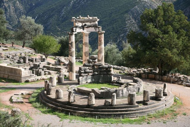Delphi archaeological site - The famous circular Tholos