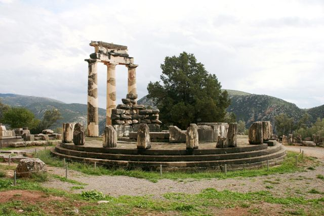 Delphi archaeological site - Masterpiece of ancient Greek architecture