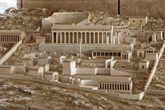 Delphi Sanctuary - Reconstruction of ancient site