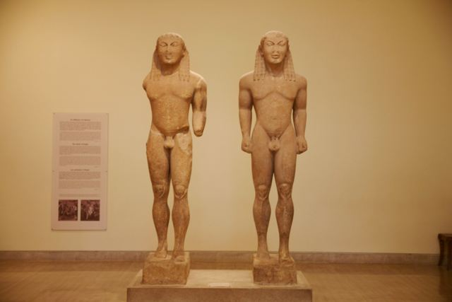 Delphi archaeological museum - Kouroi of Kleobis and Biton