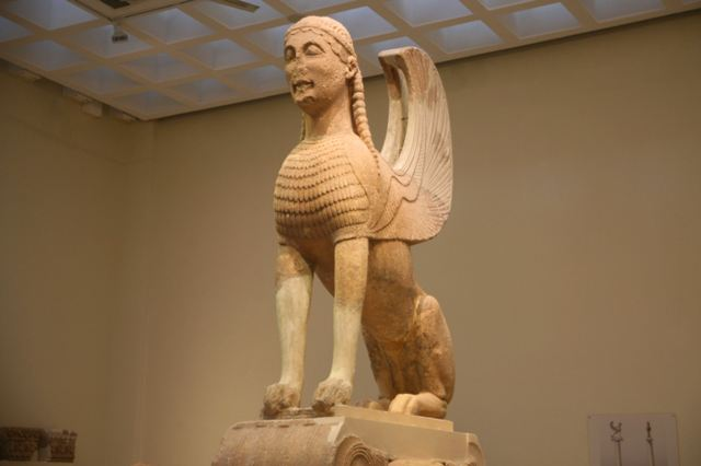 Delphi archaeological museum - Sphinx of the Naxians