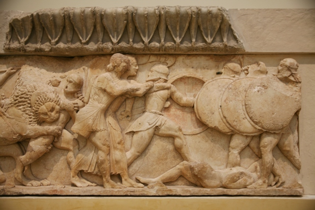 Delphi archaeological museum - Frieze of the Siphnian Treasury