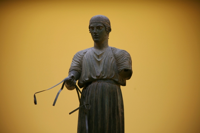 Delphi archaeological museum - Dedicated by Polyzalos of Gela