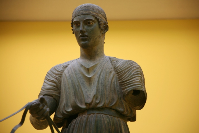 Delphi archaeological museum - Bronze statue made around 475 BC