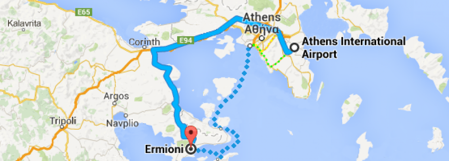 Ermioni Information Getting To Ermioni Argolida Peloponnese Greece - Where is athens located