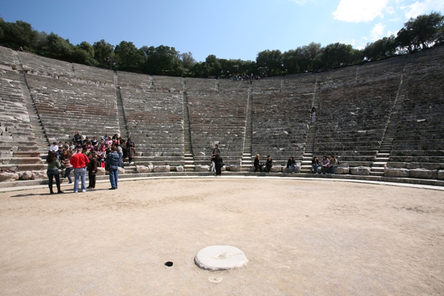 Epidavros - Centre spot of the circular orchestra