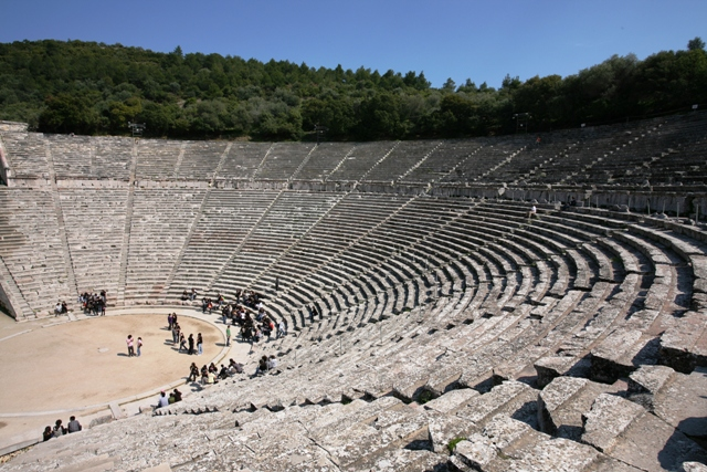 Epidavros - Panoramic view of the 12,300 seats