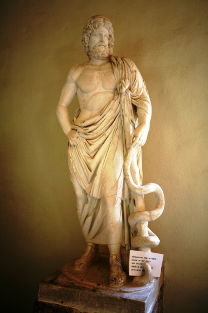 Asclepios, the ancient god of medicine