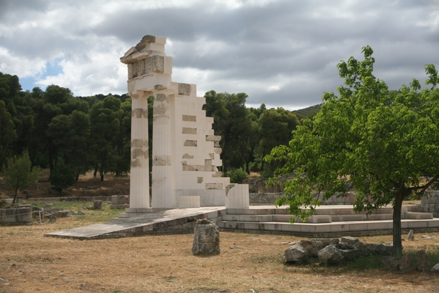 The reconstructed temple of Asclepios, near the Stoa of Kotys