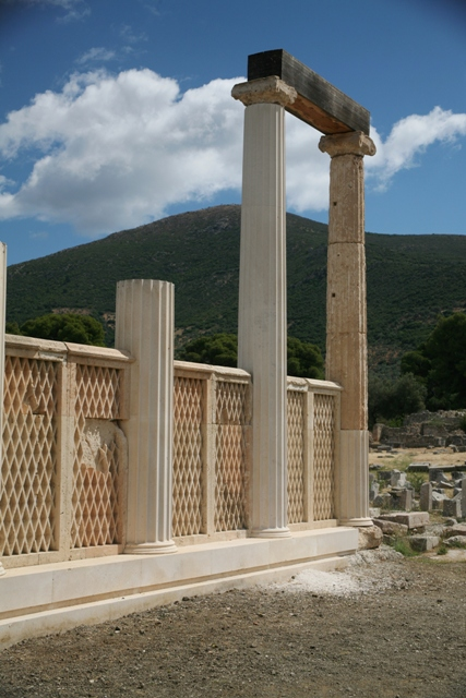 The sleeping wards stoa - showing fine stonework