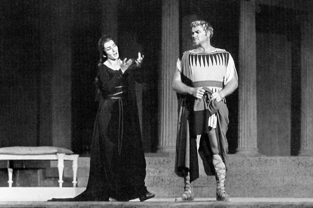Epidavros - 'Medea' with soprano Maria Callas - August 1961