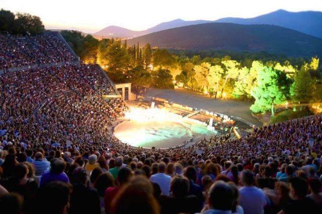 Epidavros - Evening performance during the Summer Festival