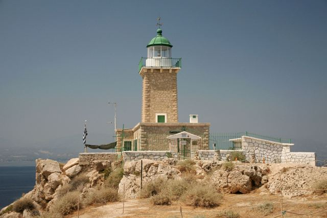 The 1897 Melagavi lighthouse above Ancient Heraion