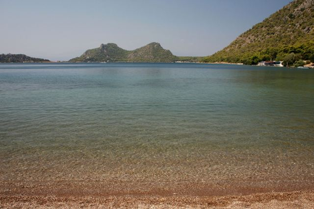 Western view of Lake Vouliagmeni near Heraion