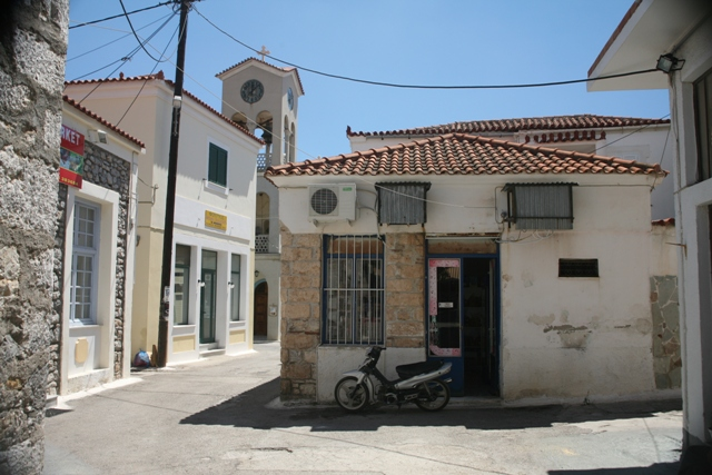 Old Village commercial centre by the Panaghia church