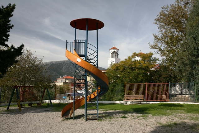 Children's play-area in Iliokastro