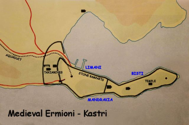 Medieval Ermioni - Kastri fortifications