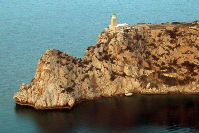 Ancient Heraion - Melagavi lighthouse overlooking the Corinthian Gulf