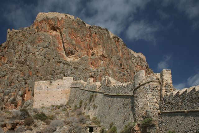 Monemvasia - Fortifications leading up to the castle summit