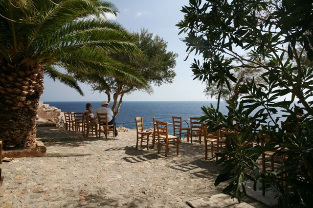Monemvasia - Time to sit and enjoy the beautiful views