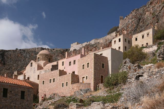Monemvasia - Restored buildings of the Lower Town
