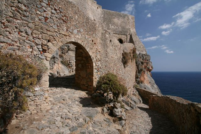 Monemvasia - Interior gate leading to the Lower Town