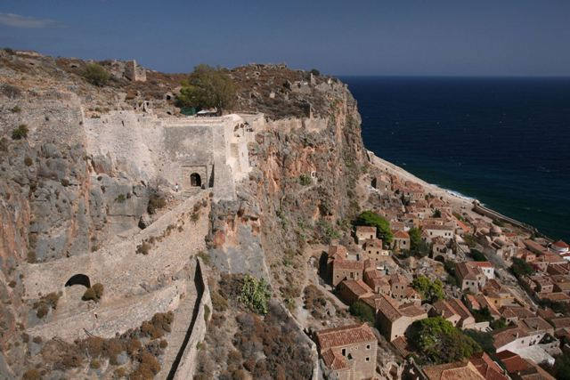 Monemvasia - Fortified gateways leading to the Upper Town