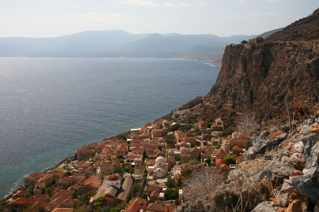 Monemvasia - The Lower Town seen from the castle