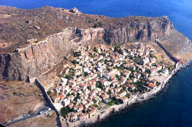 Monemvasia - Aerial view of Medieval Town