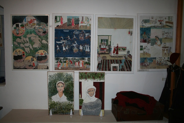 Selection of paintings by local artists