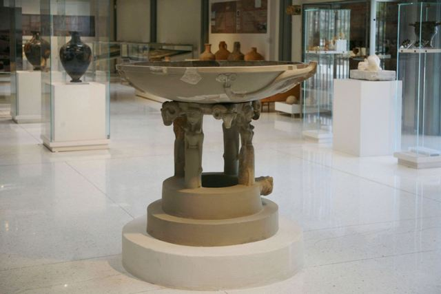 Archaeological Museum of Isthmia - Marble basin 7th Cen BC