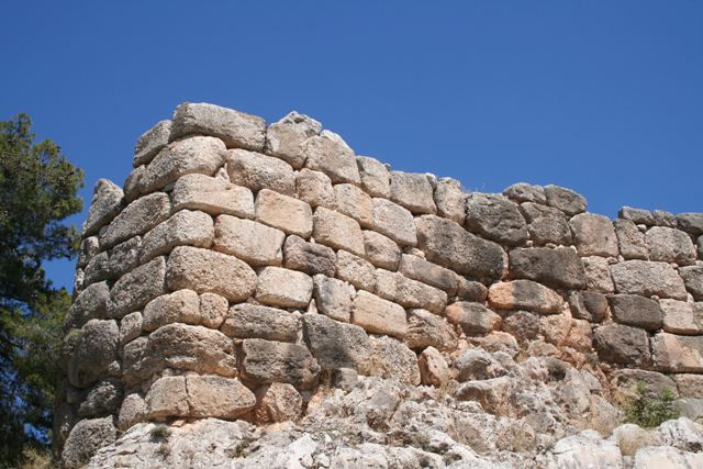 The Cyclopean stone fortifications of Mycenae